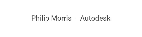 Philip Morris – Autodesk